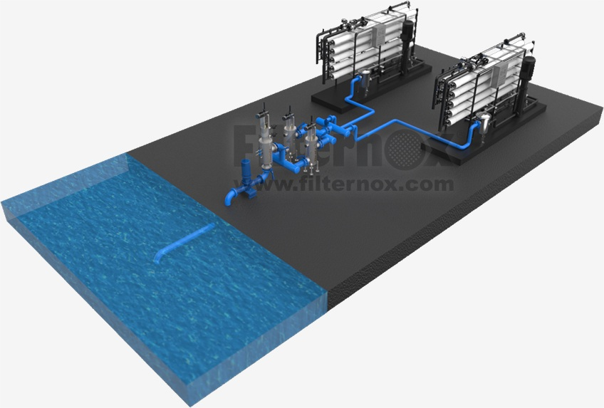 Sea water filtration system